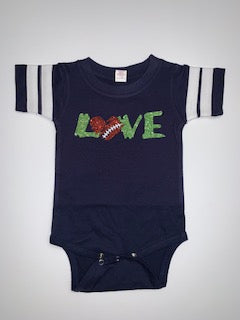 Football Short Sleeve Onesie - Pick Your Colors - Mia Grace Designs