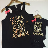Olivia Pope Is My Spirit Animal - Ruffles with Love - Racerback Tank - Womens Fitness - Workout Clothing - Workout Shirts with Sayings