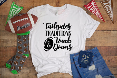 Tailgates Tradition and Touch Downs -Football Tee - Ruffles with Love - RWL - Unisex Tee