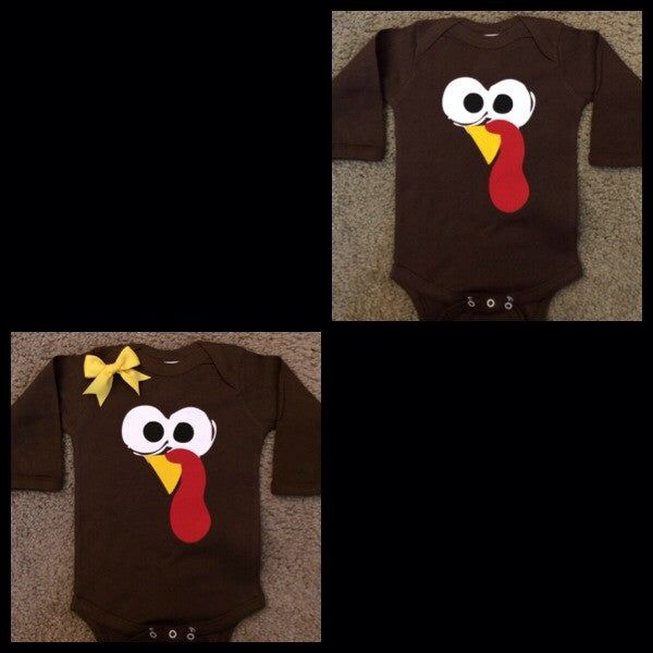 Turkey Onesie - Toddler Shirt - Thanksgiving Onesie - Long Sleeve Onesie - Ruffles with Love - Baby Clothing - RWL