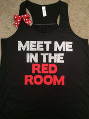 Meet Me In the Red Room - Racerback tank - Christian Grey tank - Womens Fitness Tank - Workout clothing