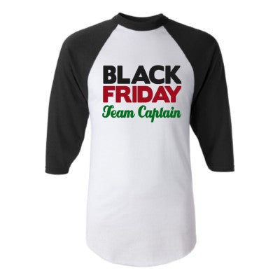 Black Friday Team Captain - Black Friday  - Raglan - Jersey Shirt - Ruffles with Love