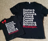 Reindeer Name Tee - Ruffles with Love - Christmas Shirt - Christmas - Rudolph Shirt