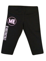 Workout Crop Pants - Logo -  Indestructible Me - Be Indestructible - by Ruffles with Love