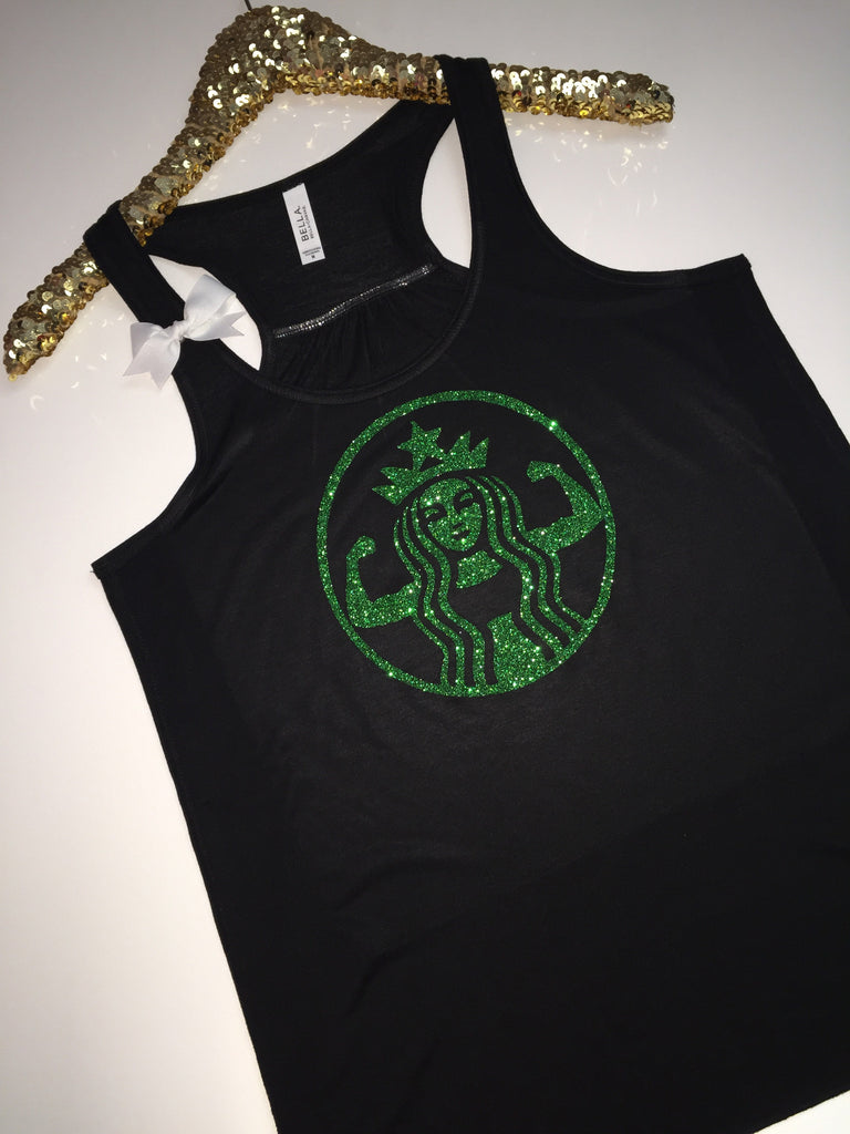 Coffee Workout Tank - BLACK - Ruffles with Love - Racerback Tank - Womens Fitness - Workout Clothing - Workout Shirts with Sayings