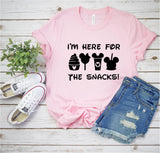 I'm Here for the Snacks - Disney Tee - Ruffles with Love - RWL - Unisex Tee - Graphic Tee