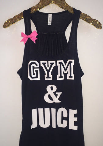 Gym & Juice - Ruffles with Love - Racerback Tank - Womens Fitness - Workout Clothing - Workout Shirts with Sayings