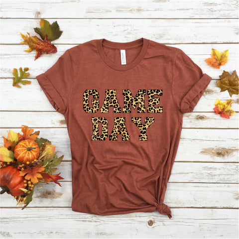 Game Day Leopard - Ruffles with Love - Tee
