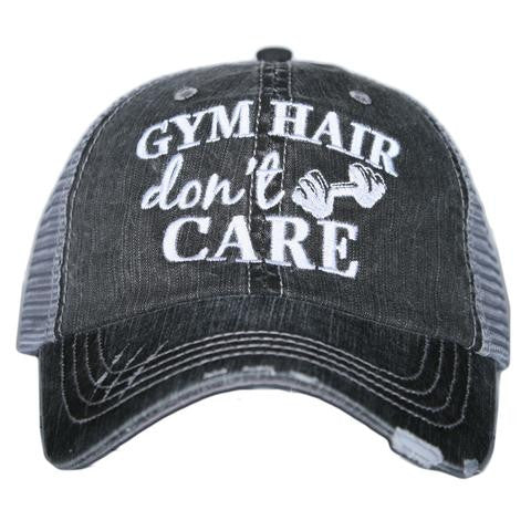 Gym Hair Don't Care - HAT - Ruffles with Love - RWL