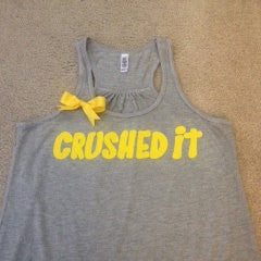 Crushed it Racerback Tank