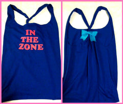 In The Zone Blue and Pink Work-out Racerback Tank Top