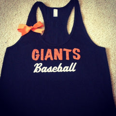 CUSTOMIZE YOUR Favorite Team - Giants Baseball Tank