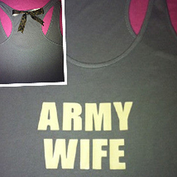 Army Wife Racer Back Tank Top