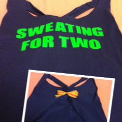 SWEATING FOR TWO Work-out Tank Top