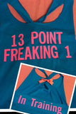 13 Point Freaking 1 Workout Racerback Tank