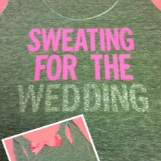 Sweating for the Wedding in GRAY Work-out Tank Top