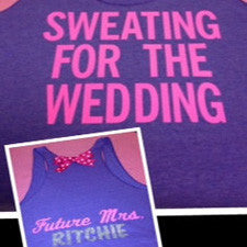 Sweating for the Wedding with Last Name Work-out Tank Top