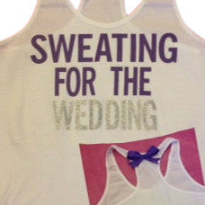 Sweating for the Wedding in PURPLE Work-out Tank Top