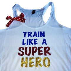 Train Like A Super Hero Racerback