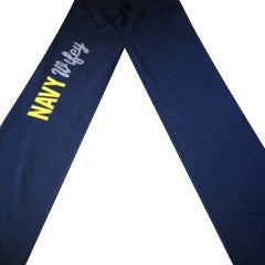 Navy Wifey Fleece Pants