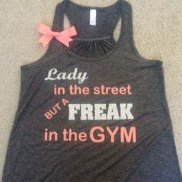 Lady in the Street Racerback Tank