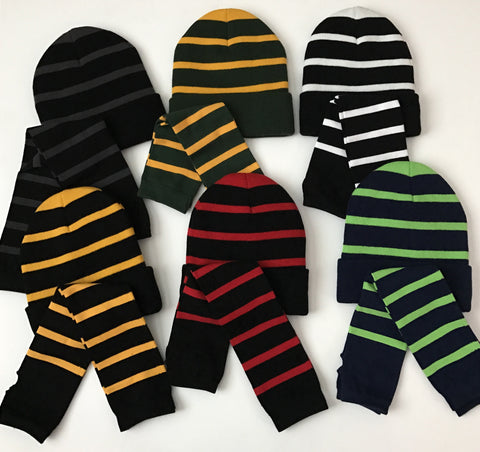Beanie and Arm Warmers - Team Color - Ruffles with Love