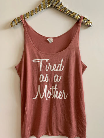IG - FLASH SALE - Tired as a Mother - Ruffles with Love - Racerback Tank - Womens Fitness