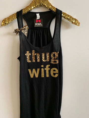 IG - FLASH SALE - Thug Wife - Ruffles with Love - Racerback Tank - Womens Fitness