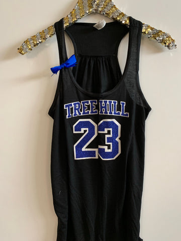 IG - FLASH SALE - Tree Hill - Nathan Jersey Tank - Ruffles with Love - Racerback Tank - Womens Fitness