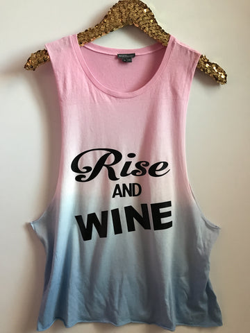 Rise and Wine - Rainbow Ombre Muscle Tank - Ruffles with Love - Graphic Tee - RWL
