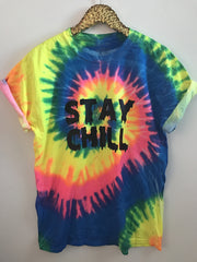 Stay Chill - Tye Dye Tee - Ruffles with Love