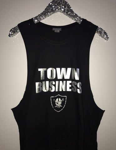 Town Business - Raiders - Ruffles with Love - Graphic Tee - RWL