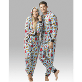 Junk Food Pj's - Hooded  Adult Pajamas - Ruffles with Love - RWL