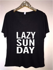 LAZY SUNDAY - V-NECK - Ruffles with Love - RWL - Graphic Tee