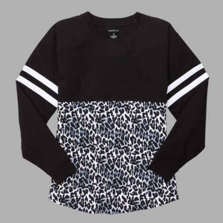 Black Leopard Jersey Shirt - Gym Wear - To and From - Womens Fitness - Ruffles with love - RWL