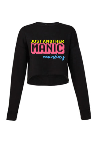 Just Another Manic Monday - Crop Sweatshirt  - Ruffles with Love -  Crop Sweatshirt