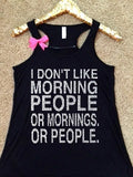 I Don't Like Morning People - TANK  - Ruffles with Love - Off the Shoulder Sweatshirt - Womens Clothing - RWL