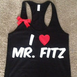 I Love Mr. Fitz - Racerback Tank - Ruffles with Love