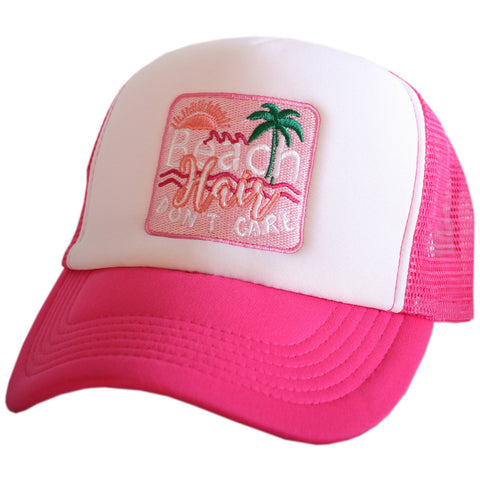 Beach Hair Don't Care - PINK - HAT - Ruffles with Love - RWL
