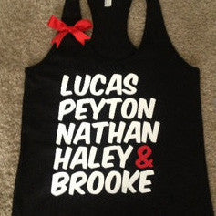 One Tree Hill Name Racerback Tank- TV Show Tank - Ruffles with Love