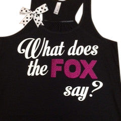 What Does the Fox Say tank - Ruffles with Love - Fun Tank