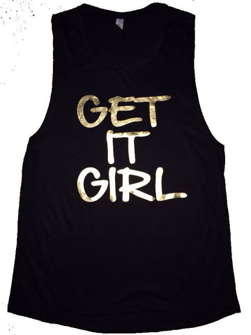 Get it Girl - Muscle Tank - Ruffles with Love - Womens Fitness Clothing - Workout Tank