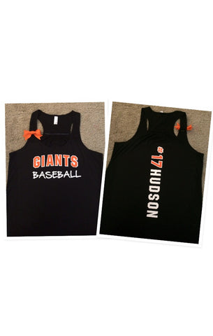 Custom Sports Tank - Customize Your Own Tank -  Bow Tank - Jersey Tank - Choose Your Team - Ruffles with Love