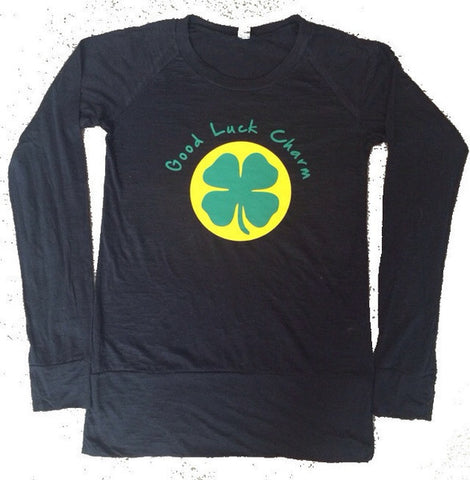 Good Luck Charm - Saint Patricks Day - Long Sleeve Shirt  - Ruffles with Love