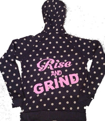 Rise and Grind - Eco Fleece - Workout Zip Up Hoodie - Ruffles with Love