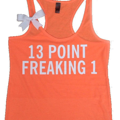 13 point freaking 1 - Ruffles with Love - Half Marathon Tank - Fitness Tank