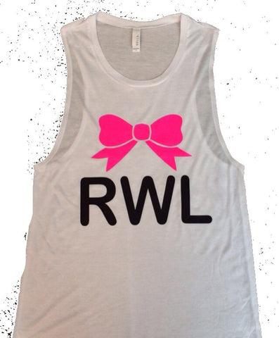 RWL Ruffles with Love - Muscle Tank - Ruffles with Love - Womens Fitness Clothing - Workout Tank