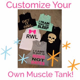 Custom Muscle Tank - Muscle Tank - Ruffles with Love - Womens Fitness Clothing - Workout Tank