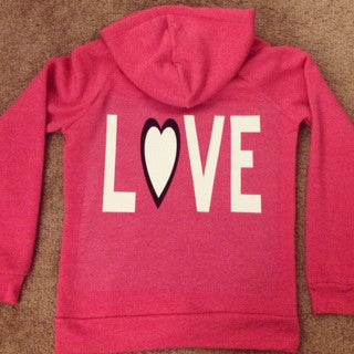 LOVE - Eco Fleece - Workout Zip Up Hoodie - Ruffles with Love