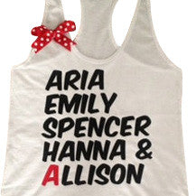 PLL Name Tank - Ruffles with Love